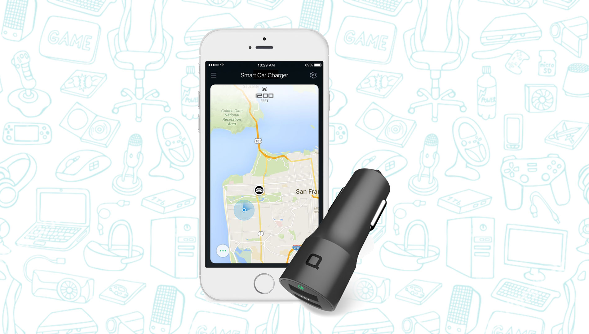 photo image This Nonda Car Charger Has a Built-In Car Locator and is Just $13