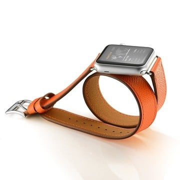 The Best Non-Apple Orange Hermès Double Tour Apple Watch Band