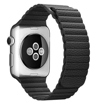The Best Non-Apple Black The Best Replica Leather Loop Apple Watch Band